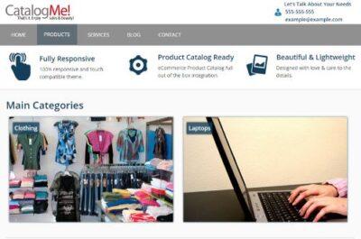 Online catalogue Website