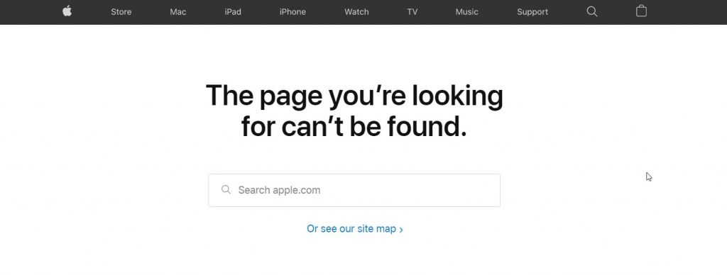 Apple 404 Page