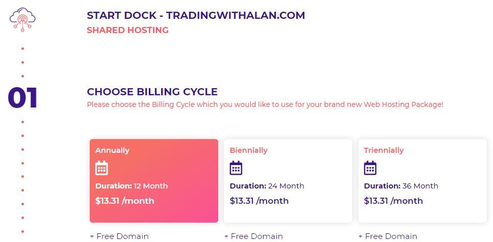 Choose Hosting Billing Cycle