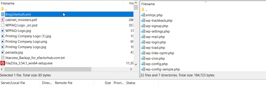 FTP file