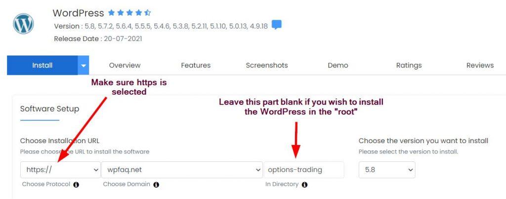 WordPress Install Step1a