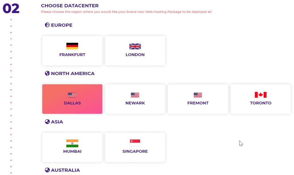 Choose Data Center